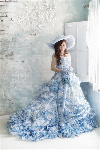 ウェディングドレスでマタニティフォト